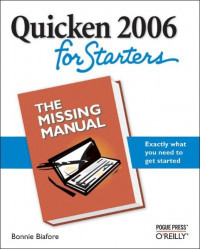Quicken 2006 for Starters : The Missing Manual