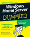 Windows Home Server For Dummies (Computer/Tech)