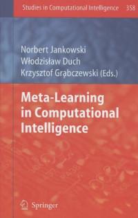 Meta-Learning in Computational Intelligence (Studies in Computational Intelligence)