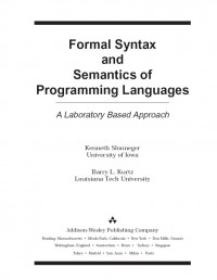 Formal Syntax and Semantics of Programming Languages: A Laboratory Based Approach
