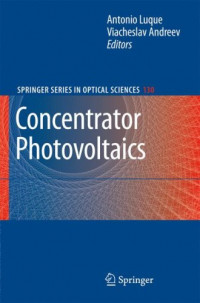 Concentrator Photovoltaics (Springer Series in Optical Sciences)