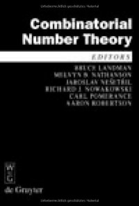 Combinatorial Number Theory: Proceedings of the 'Integers Conference 2007', Carrollton, Georgia, October 2427, 2007