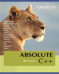 Absolute C++ (3rd Edition)