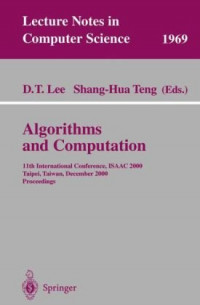 Algorithms and Computation: 11th International Conference, ISAAC 2000, Taipei, Taiwan