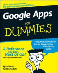 Google Apps For Dummies (Computer/Tech)