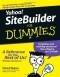 Yahoo! SiteBuilder For Dummies (Computer/Tech)
